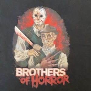 Freddy and Jason graphic T-shirt